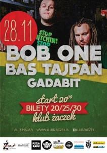 BAS TAJPAN & BOB ONE oraz GADABIT w Krakowie