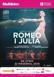 Romeo i Julia z Royal Opera House na żywo 22 września tylko w Multikinie_Plakat
