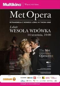 Wesoła wdówka - retransmisja z Metropolitan Opera w Nowym Jorku 14 września w Multikinie_Plakat