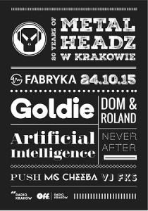 Goldie, AI oraz Dom & Roland - czołówka drum'n'bass w Krakowie