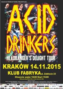 Znamy oba supporty krakowskiego koncertu Acid Drinkers. Będą nimi Fix Up oraz SIQ
