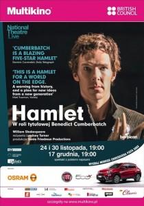 Hamlet z Benedictem Cumberbatchem_PLAKAT