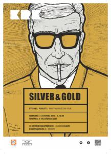 silver & gold plakat