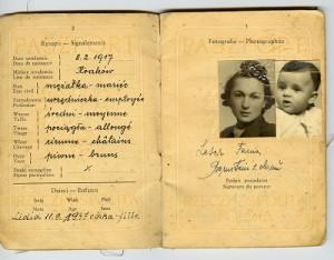 Dokument podróży Fani Leser wydany w Krakowie w 1950 r., własność Lili Haber