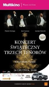Koncert Świąteczny Trzech Tenorów_PLAKAT