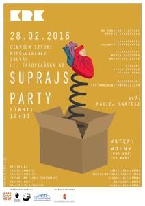 Suprajs party - plakat