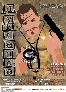 Teatr Barakah - Dyktanda__plakatpiksele