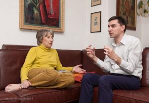 Teresa Torańska i Remigiusz Grzela