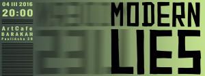 ArtCafe Barakah - koncert (Modern Lies)__grafika