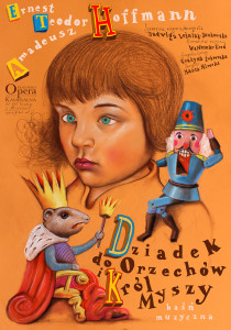 Plakat- Dziadek do orzechów- proj. Leszek Żebrowski