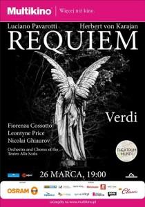 Requiem Verdiego z Luciano Pavarottim_PLAKAT