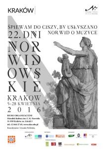 plakat Dni Norwidowskie 2016