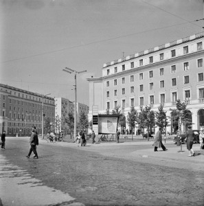 Ukończony pl. Centralny, po 1960 r., fot. Henryk Hermanowicz