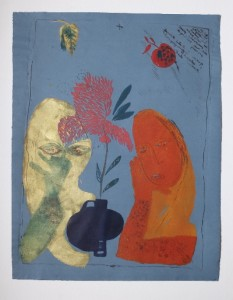 Kuryluk Ewa, Blizniaczki z wazonem kwiatow 1969