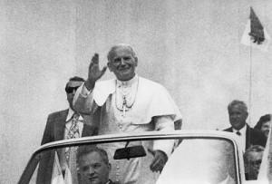 Jan Paweł II w Mogile fot.Kazimierz Kipiel