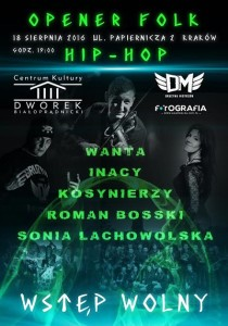 Opener FOLK & Hip-Hop w Dworku Białoprądnickim