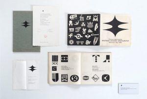 Zaproszenie na wernisaż, oficjalny dyplom i katalog z Ogólnopolskiej Wystawy Znaków Graficznych z 1969 roku
