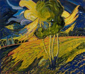 Anton Jaszusch, Siła słońca, 1920 – 1924. Olej, płótno, 149 x 172 cm, Slovenská národná galeria Bratislava