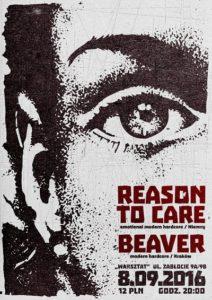 Punk koncert - Reason To Care i Beaver w Krakowie