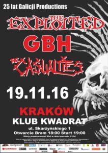 Koncert z okazji 25-lecia Galicja Productions: The Exploited, GBH i The Casualties