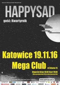 HAPPYSAD i Kwartyrnik w listopadzie w Katowicach