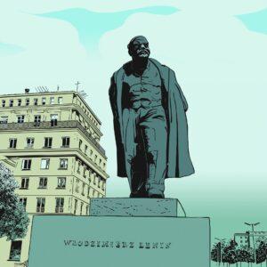 pomnik-lenina-w-nowej-hucie-rys-piotr-urbanek