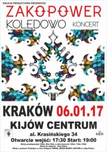 Zakopower Kolędowo w Krakowie